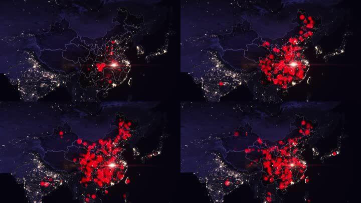 武汉疫情蔓延疫情地图变化计算机模拟