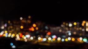 城市小区万家灯火4K延时摄影视频素材