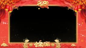 2020新年鼠年拜年祝福边框透明通道视频素材
