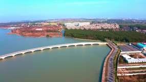 淀山湖航拍視頻素材