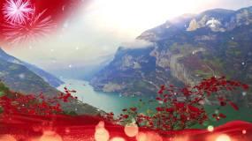 霍勇中国中国鲜红的太阳永不落配乐成品视频素材