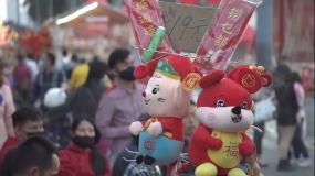 2020肺炎疫情下的广州迎春花市街头4K视频素材包