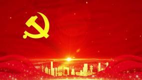 党旗背景-无缝循环视频素材