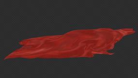 多功能质感红绸背景视频素材
