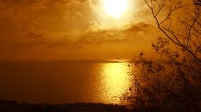 海岸夕阳视频素材