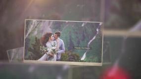 唯美风格婚礼爱情回忆迎宾开场记录家庭闺蜜AE模板