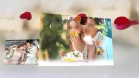 婚礼057-玫瑰花瓣高端唯美震撼婚礼开场AE模板