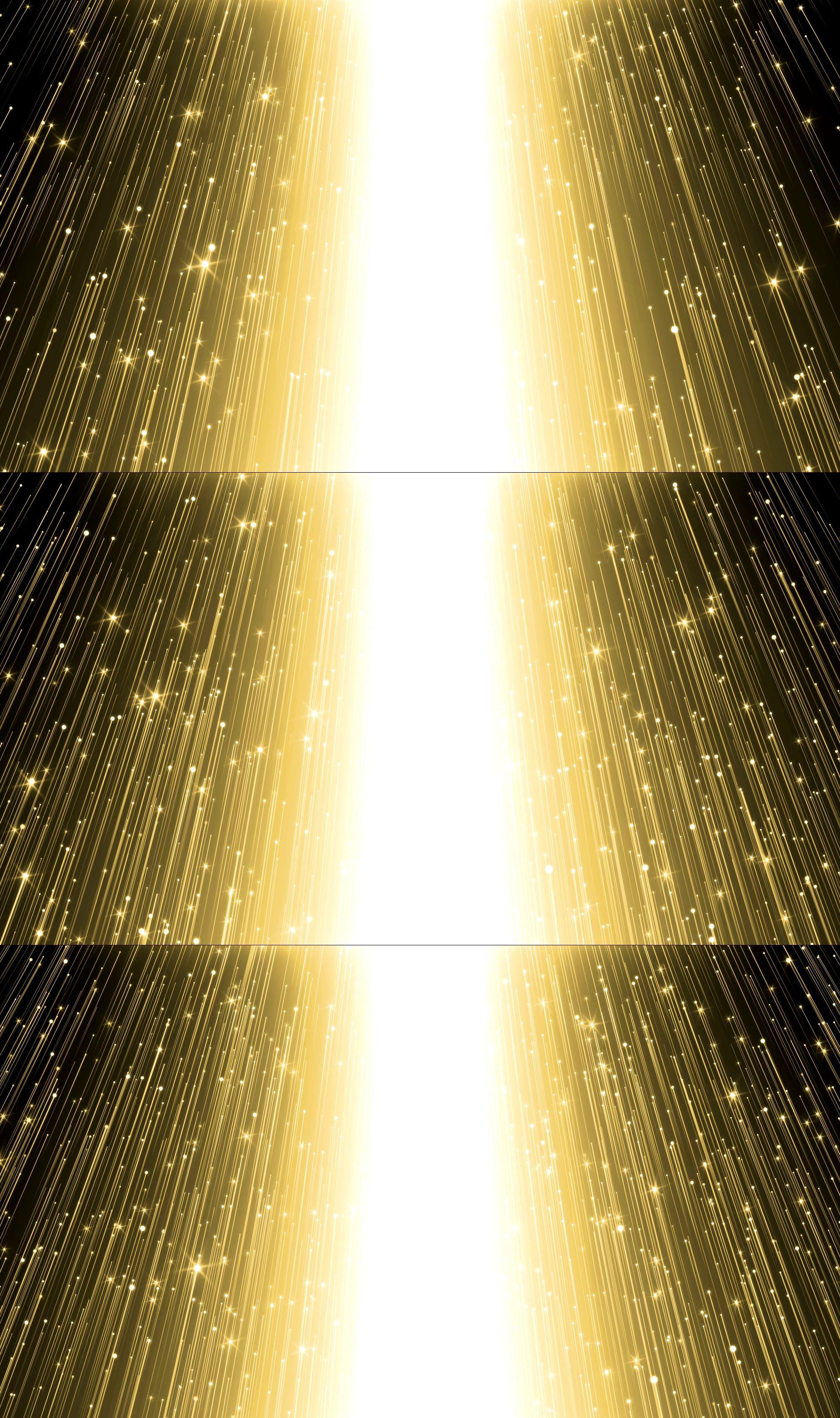 4K金色粒子星光希望之门(循环)