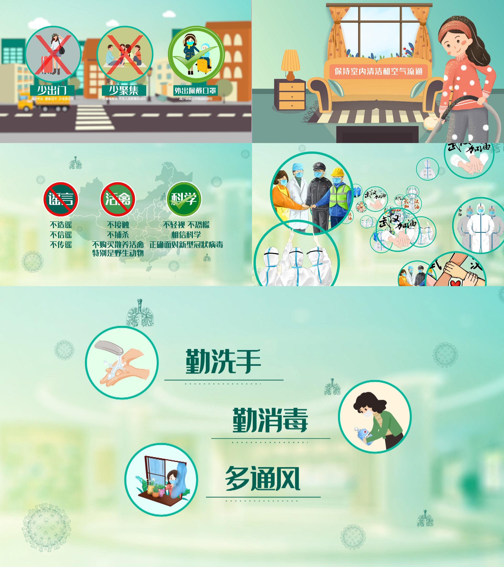 冠状病毒预防MG动画AE
