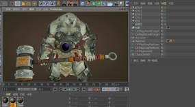 C4D+3dsmax+fbx-暗黑野蛮人C4D工程