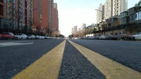 實拍新冠肺炎疫情下的西安街頭視頻素材