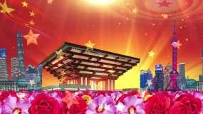 《东方红》北京市少年宫合唱团歌曲背景视频素材