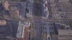 曹妃甸住宅小区道路航拍2.7K视频素材