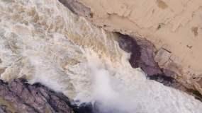 4K俯拍黄河视频素材