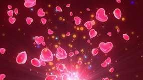 4K粉色爱心视频背景视频素材