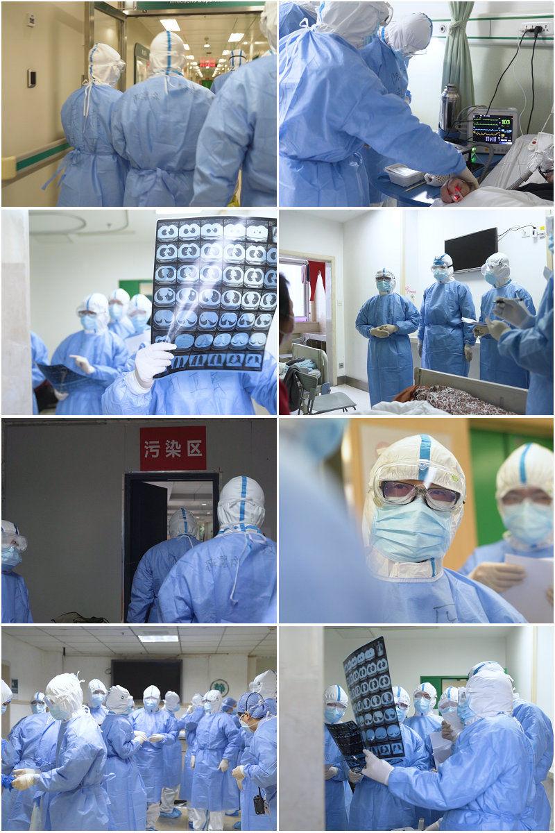 抗击新冠病毒一线医护人员