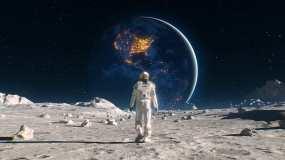 4K科幻月球行走视频素材