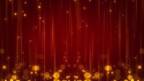 4K金色動態光斑紅背景視頻素材
