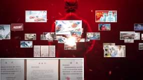 【原创】武汉加油抗疫照片汇聚LOGO片头视频素材