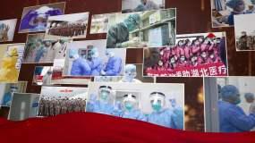 众志成城共抗疫情暖色视频素材