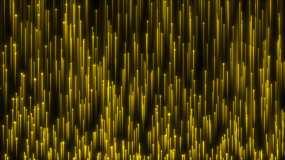 4K金色粒子上升舞臺背景視頻素材