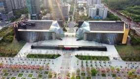 2020深圳市民中心航拍素材视频素材