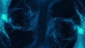 4K淡蓝色粒子光沙落版视频素材
