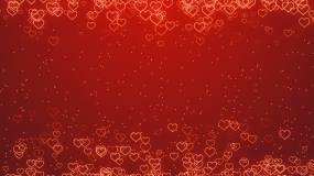 红色爱心浪漫背景视频素材