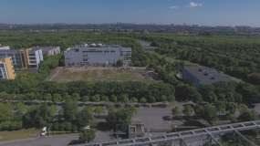 农业科学院上海兽医研究所航拍视频素材