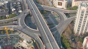 航拍杭州空城视频素材