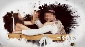 浪漫婚礼相册水墨模板片头模板AE模板