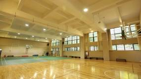 学校走廊篮球场花园学校建筑视频素材