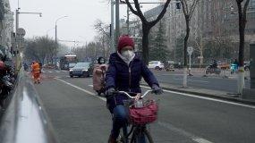 口罩疫情北京街头视频素材