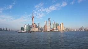 2020最新上海外灘陸家嘴日出城市延時視頻素材