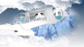 无字大气云层疫情通用片头视频素材