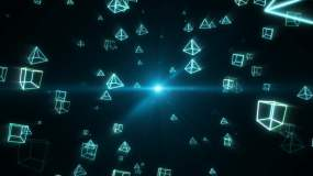 几何穿梭1视频素材
