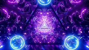 【4K】唯美霓虹玻璃灯球VJ隧道视频素材