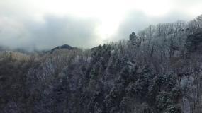 秦岭雪景航拍视频素材