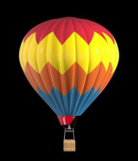 三维热气球01视频素材