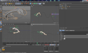 【C4D模型】中國神龍、帶動畫C4D工程
