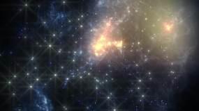星系恒星运动视频素材
