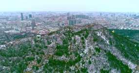 4K濟南城市雪景千佛山雪景視頻素材