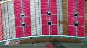航拍濟南山東省體育中心2020最新版4k視頻素材