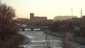 包头市东河区冬季、转龙藏视频素材