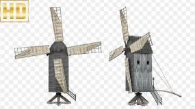 古代水利风车-alpha通道视频素材包
