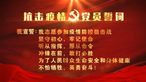 疫情党员宣誓誓词AE模板
