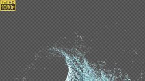 水花01-alpha通道视频素材包