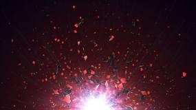 扑克元素爆炸视频素材