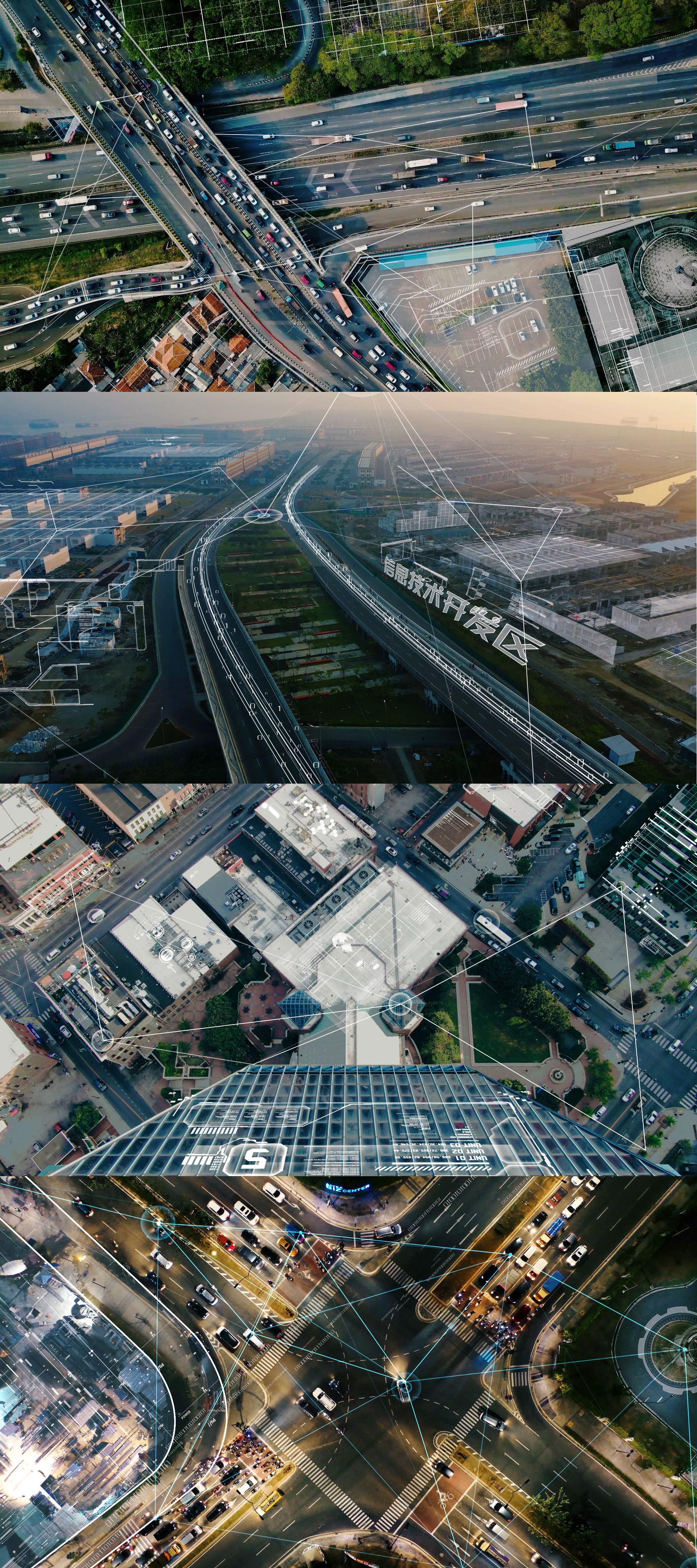 大数据城市实拍特效剪辑素材【4k】