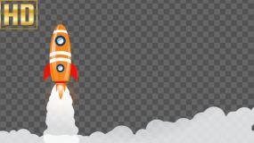 MG卡通火箭发射-alpha通道视频素材包
